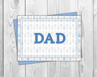 Father's Day Printable Card- Dad & Ties