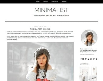 Minimalist blogger template. Responsive Blogger template. Blog design. Premade Blogger theme. Minimal, simple, fashion black, scandi, trendy