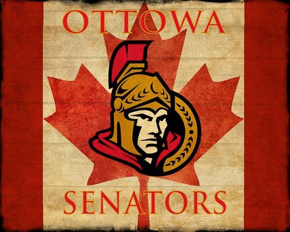 Man Cave Ottawa : Ottawa senators poster hockey decor canada flag man cave