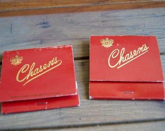 Vintage Chasen's Restaurant Matchbook Covers - Los Angeles Restaurant Lot of 2