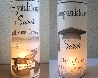 12 Personalized Graduation Party Centerpiece Table Decoration luminaries