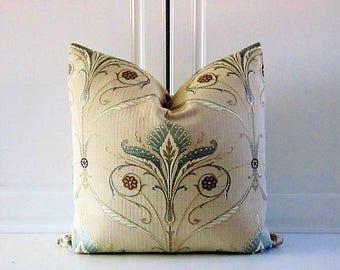 Wesley Mancini Decorative Pillow Cover-Art Noveau-Ciel Blue-16x16,18x18,20x20
