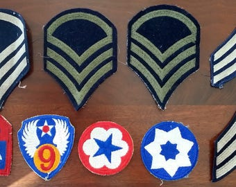 Military - Air Force Patches (Vintage) Set of 9