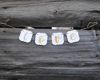 Wedding - Love Banner  - Wedding Signs - Wedding Decorations - Rustic Wedding