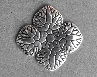 Sterling Silver Hollyhock Leaves Pendant - C643