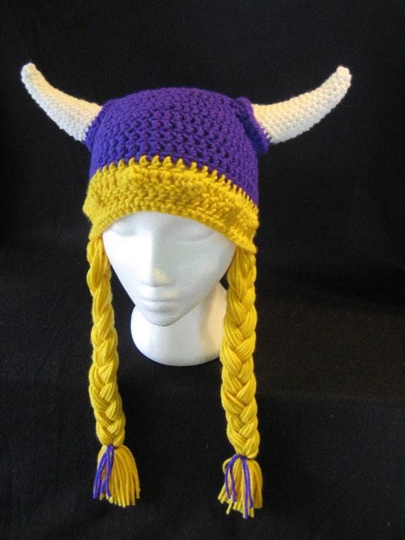 Crochet Pattern Viking Helmet Hat Pattern Braids And
