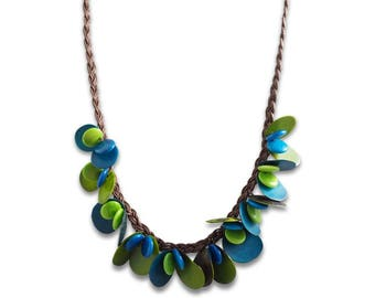 Garden Tagua Necklace ECO Friendly Necklace Sustainable Colombia Necklace
