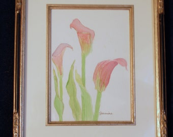 Calla Lilly Watercolor Painting