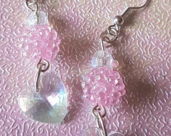 Heart shaped bubble earrings