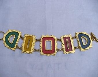 MERCEDES ROBIROSA Pretty Vintage 90's RUNWAY Couture bracelet