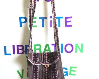Vintage Mexican Cotton Striped Bag | Hippie Bag | Hobo Bag | Shoulder Bag | Pouch Purse