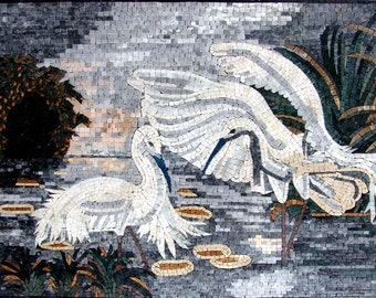 Mosaic Wall Art - Blue-winged goose