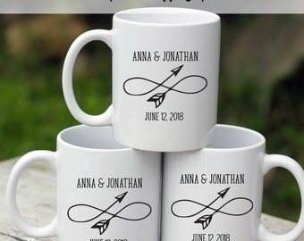 Coffee Mug Wedding Favors, Alternative wedding favors, custom infinity mug, infinity symbol wedding favors, Custom Mug Favors, -MF5