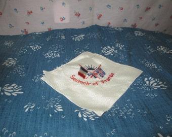Original ww2 silk ladies Souvenir of France hankerchief