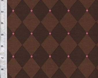 """Michael Miller Patty Young """"Andalucia"""" Jester Chocolate Fabric"""
