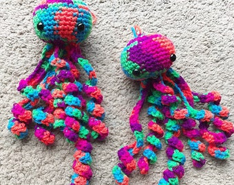 Crochet Jellyfish Neon Colors Jelly fish Doll