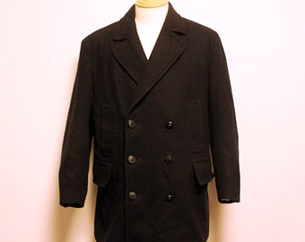 90s Gloverall Pea coat coat made in England