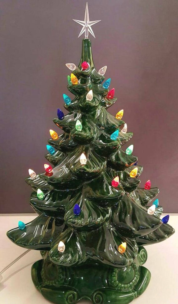 Cyber Monday VINTAGE Style Ceramic Christmas Tree 18