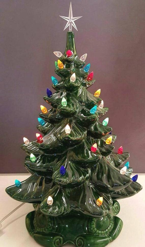 VINTAGE Style Ceramic Christmas Tree 18 Ceramic