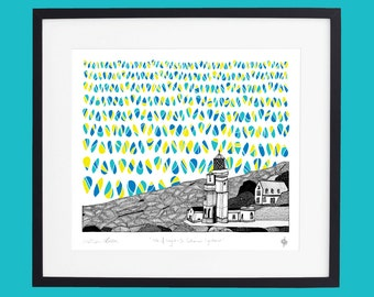 Isle of Wight  - St Catherine's Lighthouse screen print