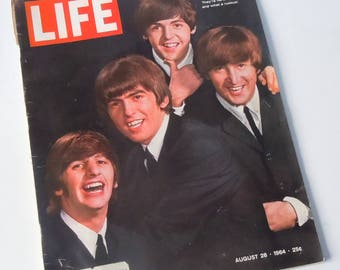 Life Magazine from  1964 / Vintage Glimpse into the life of the Beatles  / Perfect for Research / Early Castro Profile