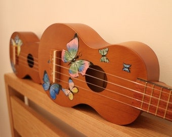 Hand Painted Butterfly Ukulele