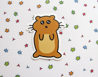 Hamster Sticker, Laptop Sticker, Car Sticker, Bumper Sticker, Vinyl Sticker, Stuffed Cheeks Hamster, Chubby Hamster, Funny Hamster
