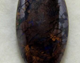 Australian Boulder Opal Cabochon, Fire Opal, Opal Gemstone, Jewelry Supply, Opal Jewelry, October Birthstone, 20 x 11 mm 9 Carats  #19