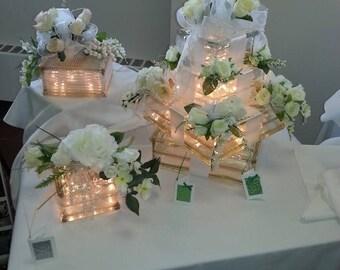 Wedding Cake Lighted Glass Block
