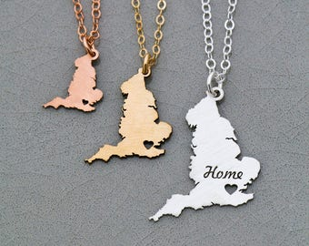 SALE • England Necklace • Gift England Charm Gift for Her • England Jewelry Personalized • England Pendant • Great Britain • UK • Hometown