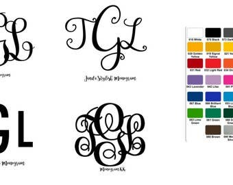 vinyl monogram letters vinyl decal for tumbler vinyl stickers for yeti vinyl monogram for laptop