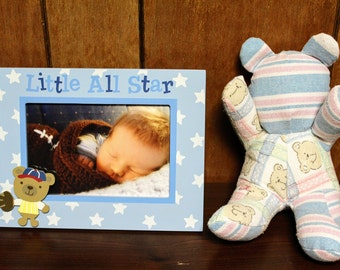 teddy bear keepsake - keepsake bear - memory bear - baby memory keepsake - baby keepsake - keepsake teddy- mothers day gift - Christmas gift
