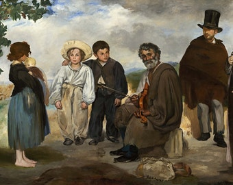Edouard Manet: The Old Musician. Fine Art Print/Poster. (004109)