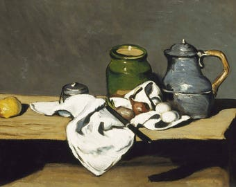 Paul Cezanne: Still Life with Kettle. Fine Art Print/Poster. (004232)