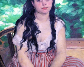 Pierre Auguste Renoir: Summer. Fine Art Print/Poster. (004259)