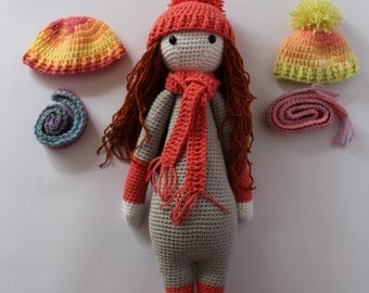 Doll, Ready to ship! doll with Changeable Hat and scarf, Lalylala,