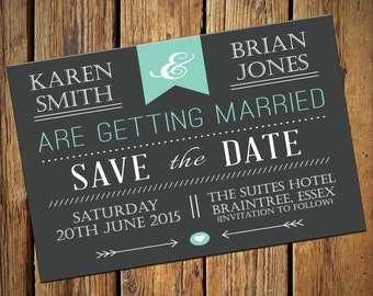 Wedding Save The Date Invitations No. 1