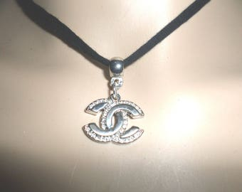 chanel necklace women tibetan silver collar crystal rhinestones