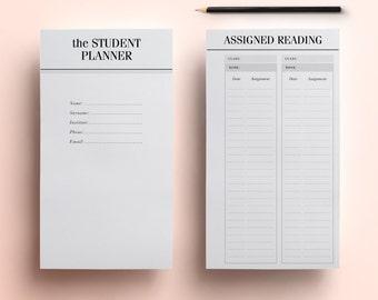 daily homework planner template
