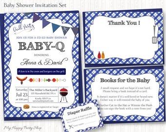 Baby q shower invitations | Etsy