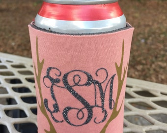 Personalized can cooler/monogrammed can cooler/can holder/can saver/personalized can cooler/anter can holder/wedding favors/wedding gifts