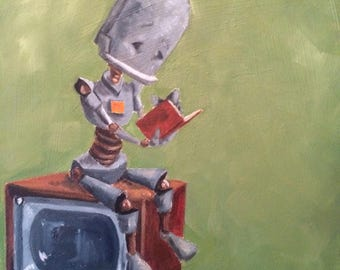TV Bot robot painting print