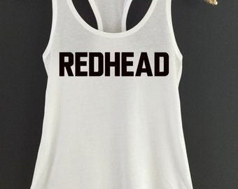 Redhead Tank Top - Redhead Tank Top - Redhead Brunette Blonde Tank Tops - Hair Color Tank Top - Redhead Best Friends Tank Top - Redhead Tank