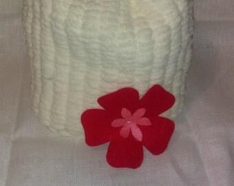 Toddler flower beanie