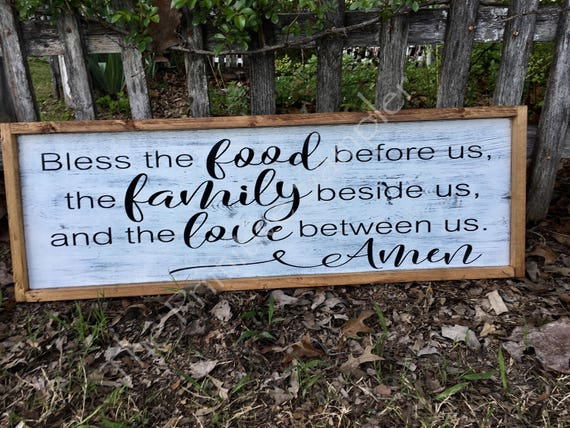 grace sign food blessing blessing sign dining room sign