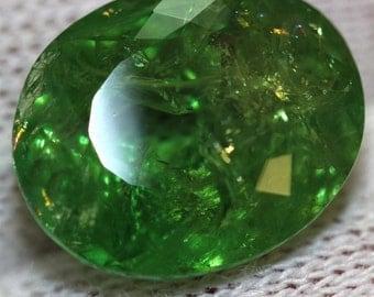 GIA certified natural Loose unmounted huge 12.74ct green untreated Garnet