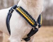 Adjustable Paracord Dog Harness, Custom dog harness, Walking Harness, Customisable Harness, Large Dog Harness, Any breed Y harness