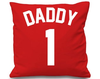 Daddy 1 Cushion Cover Fathers Day Football Cushion Name Theme
