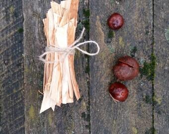 bark for crafts or decor natural chestnut tree wooden bark rustic primitive bark slices peelings bark strips bundle fall autumn christmas
