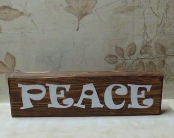 Peace Wood Block Sign